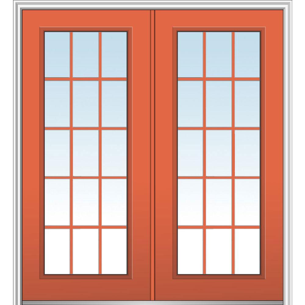 72 in. x 80 in. Classic Left-Hand Inswing 15-Lite Clear  sc 1 st  The Home Depot & No caming - MMI Door - 15 Lite - Doors With Glass - Steel Doors ...