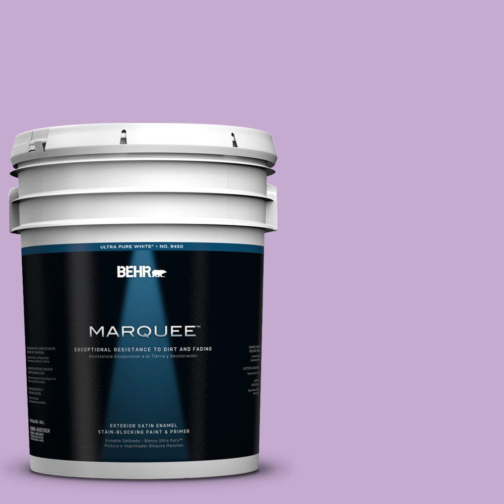 BEHR MARQUEE 5-gal. #660B-4 Pale Orchid Satin Enamel Exterior Paint