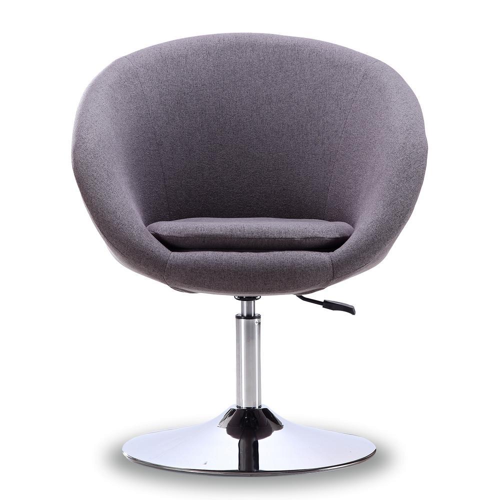 Hopper Grey Swivel Adjustable Height Leatherette Chair