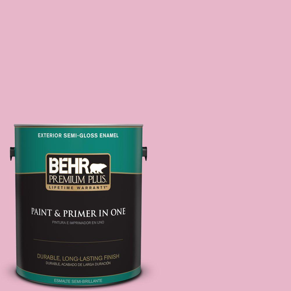 1 gal. #HDC-SP16-10 Japanese Rose Garden Semi-Gloss Enamel Exterior Paint