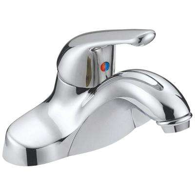 4 in. Centerset Chrome-Plated Single-Handle Bathroom Faucet in Silver