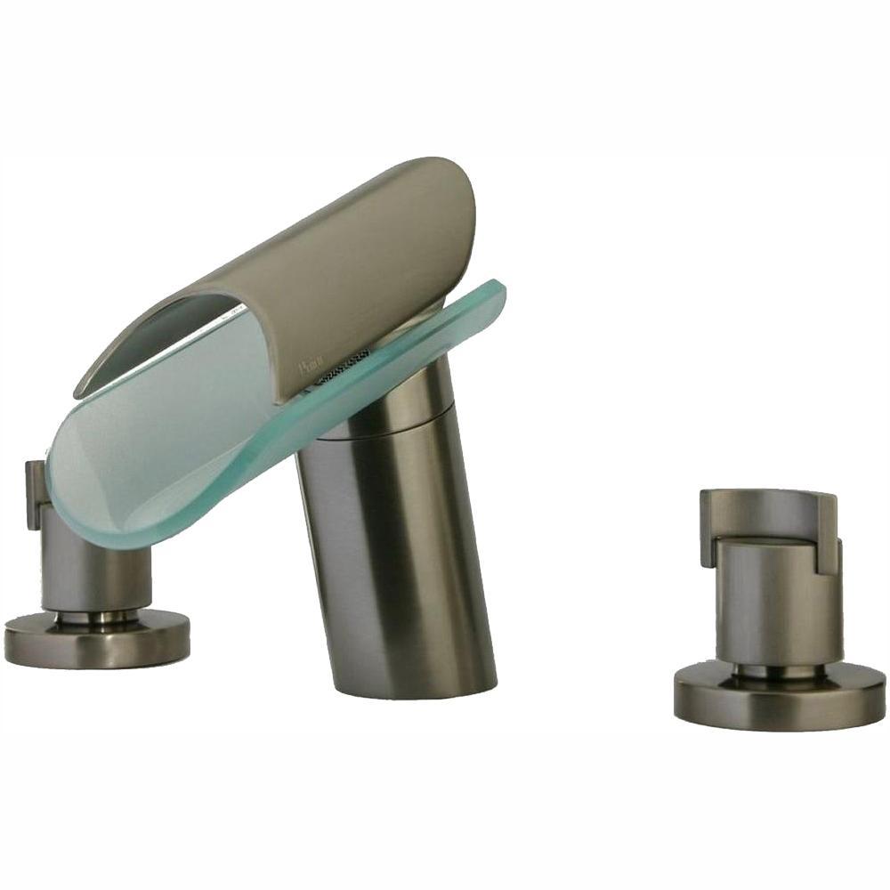 Morgana 8 in. Widespread 2-Handle Low-Arc Bathroom Faucet in Brushed Nickel
