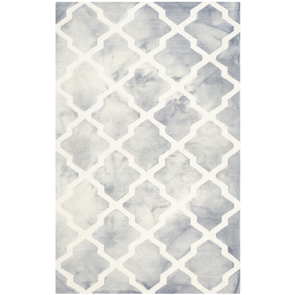 Safavieh Himalaya Turquoise Ivory 4 Ft X 6 Ft Area Rug: Safavieh Dip Dye Gray/Ivory 4 Ft. X 6 Ft. Area Rug-DDY540C