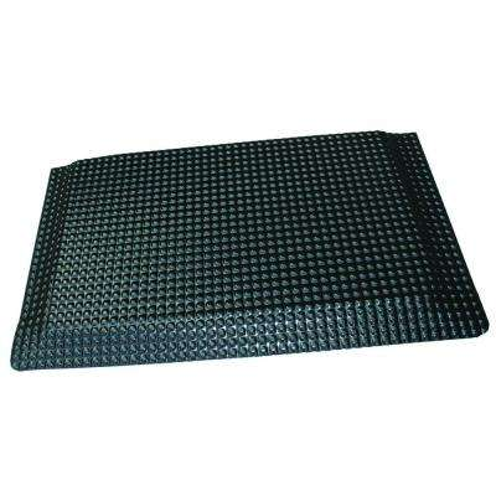 Reflex Glossy Black Domed Surface 24 In. X 36 In. Vinyl Kitchen Mat