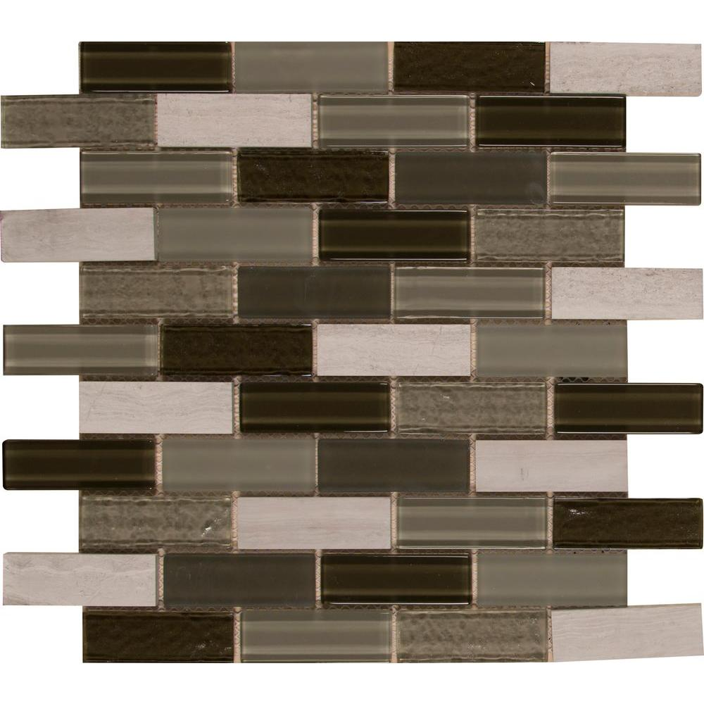 Tivoli 12 in. x 12 in. x 6 mm Glass Stone Mesh-Mounted Wall Tile ...