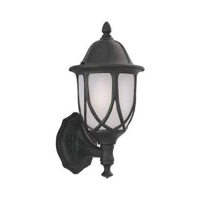 Greenwood Collection Black Outdoor Wall-Mount Lantern