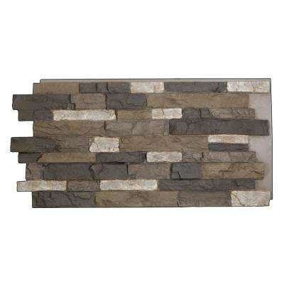 Denalia Faux Stone Panel 1-1/4 in. x 48 in. x 24 in. Volcano Polyurethane Interlocking Panel