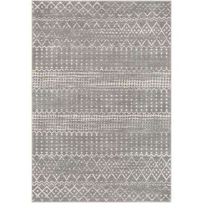 Eurydice Light Gray 6 ft. 7 in. x 9 ft. Moroccan Area Rug