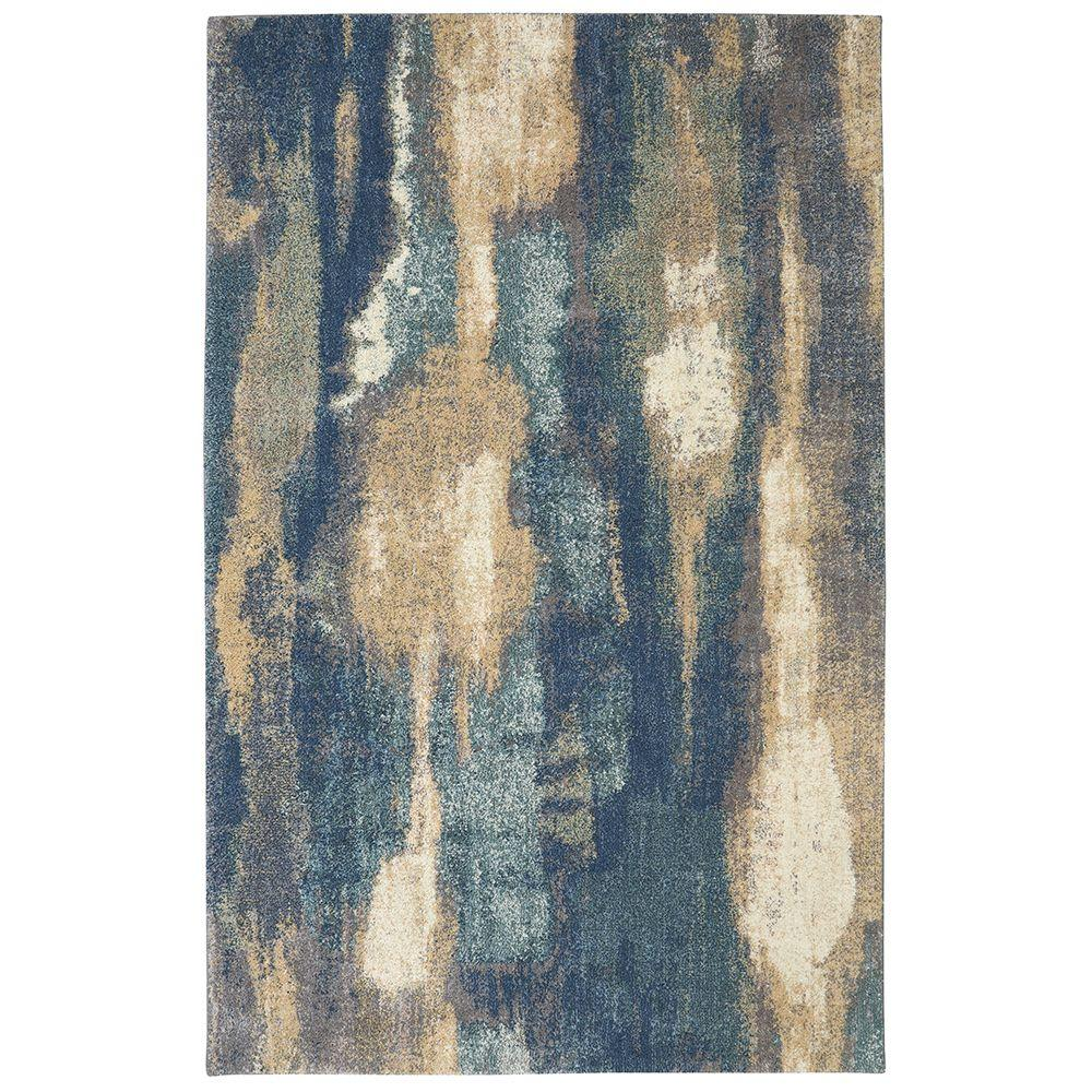 Wendall Blue 10 ft. x 14 ft. Area Rug