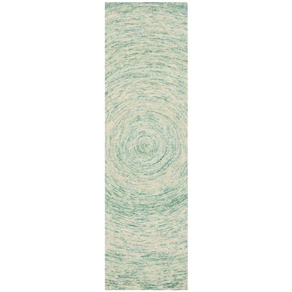 Ikat Ivory/Blue 2 ft. 3 in. x 8 ft. Runner Rug