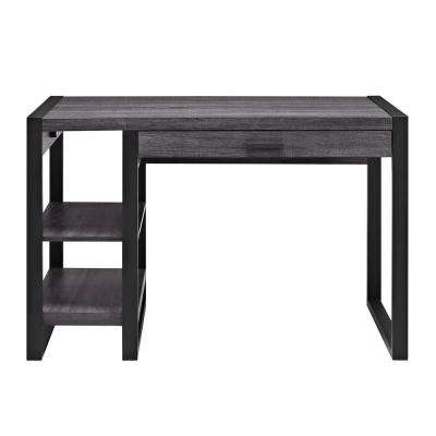 Urban Blend Charcoal Desk with Storage