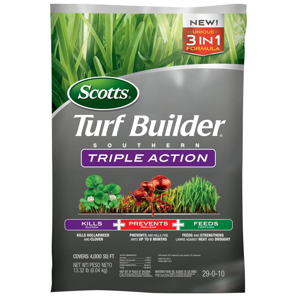 Scotts Turfbuilder 4m 13 42 Lbs Triple Action South Fertilizer