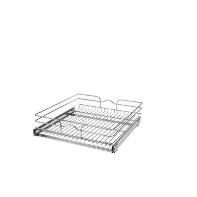 7 in. H x 20.75 in. W x 22 in. D Base Cabinet Pull-Out Chrome Wire Basket