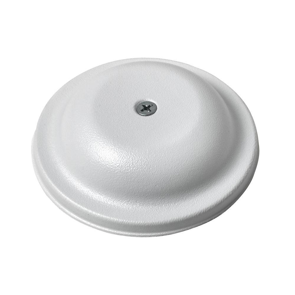 Oatey 4 in. Stainless-Steel Bell Cover Plate in White