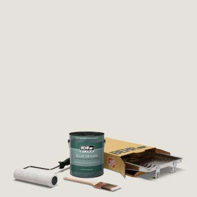 1 gal. #PPU18-08 Painters White Extra Durable Semi-Gloss Enamel Int. Paint & 5-Piece Wooster Set All-in-One Project Kit