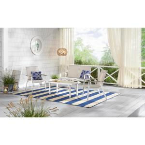 Beach Haven Shell White 4-Pc Sling Outdoor Patio Set Deals