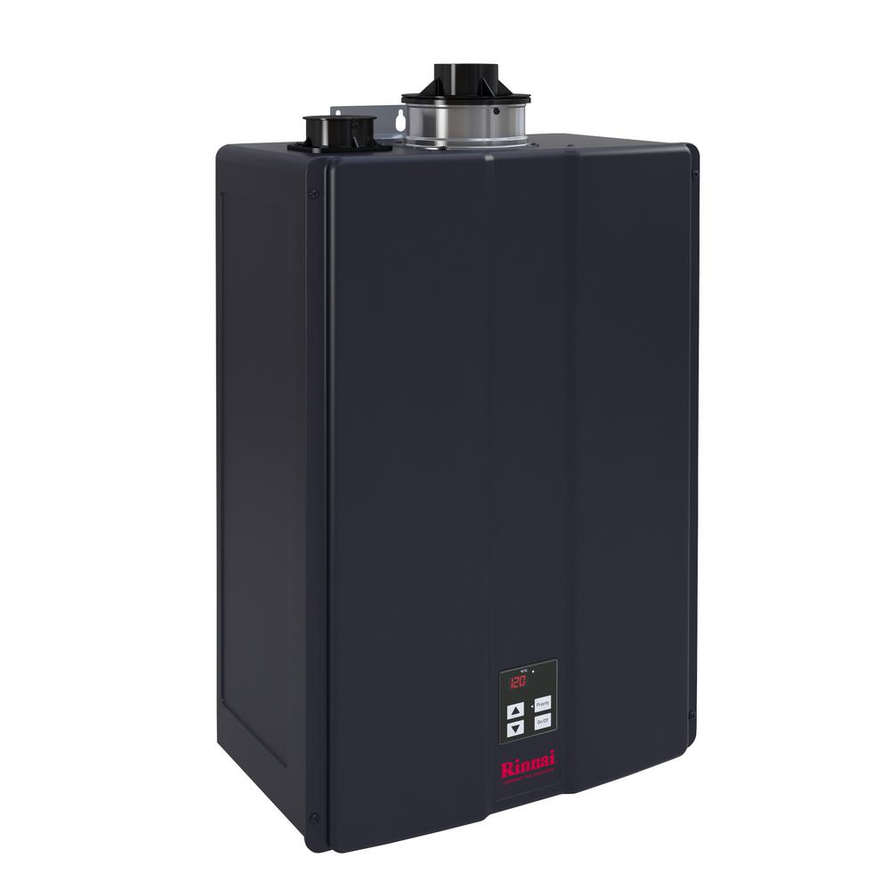 rinnai 9 gpm commercial 160 000 btu propane gas interior tankless water heater cu160ip the. Black Bedroom Furniture Sets. Home Design Ideas