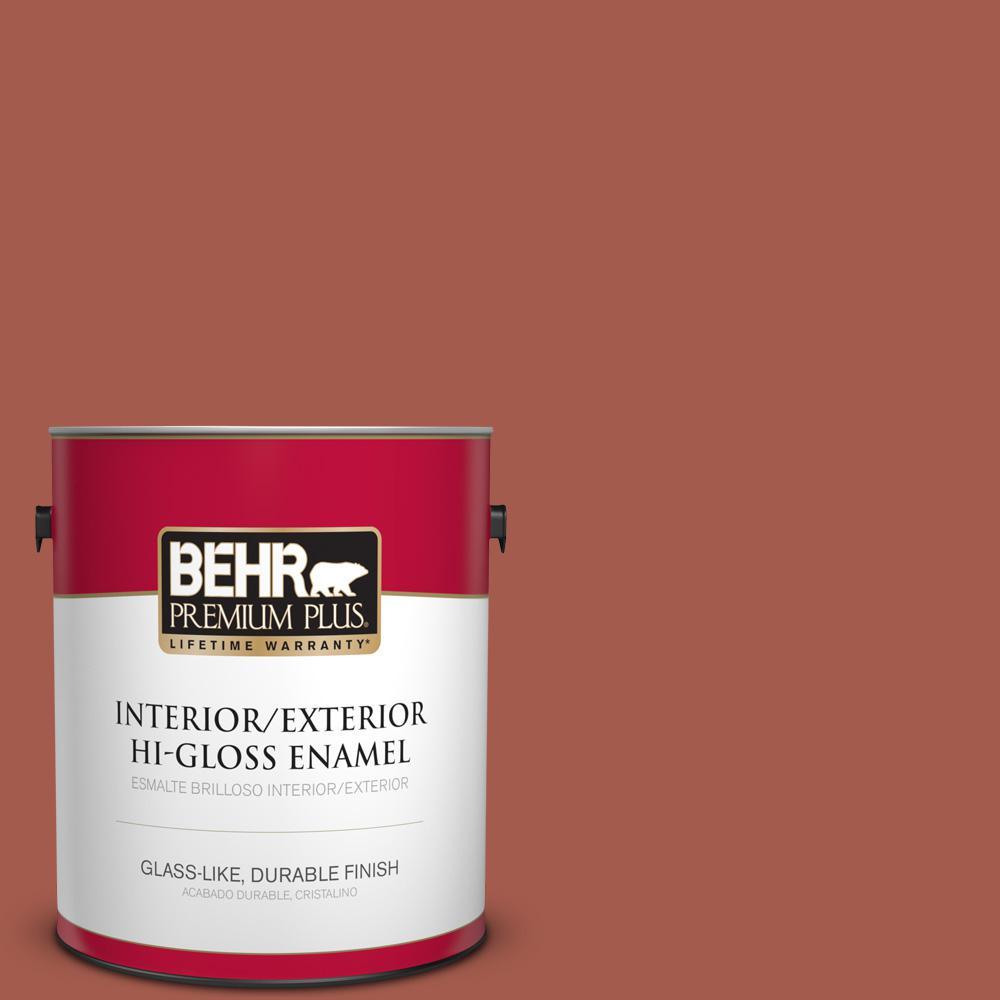 1 gal. #PPU2-15 Cajun Red Hi-Gloss Enamel Interior/Exterior Paint