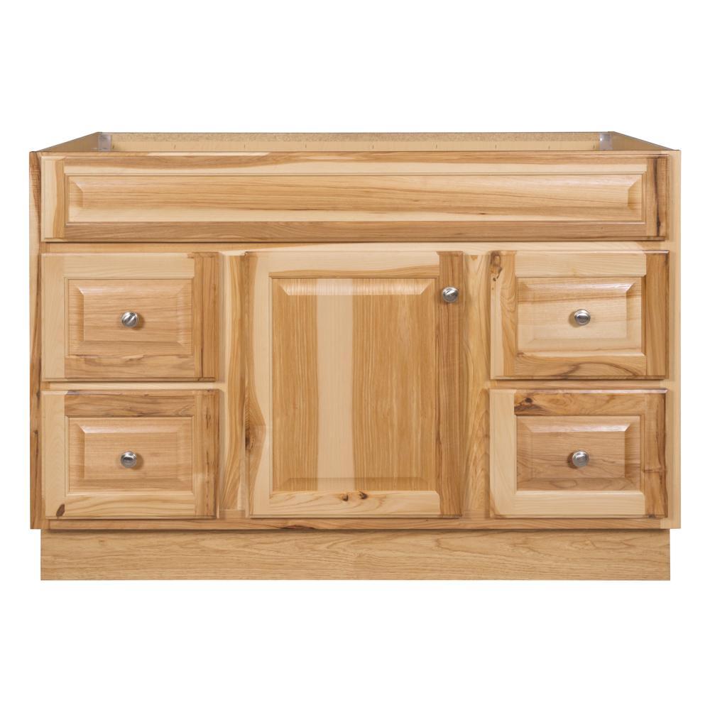 Glacier Bay Hampton 48 in. W x 21 in. D x 33.5 in. H Bathroom Vanity Cabinet Only in Hickory