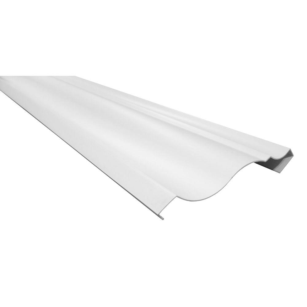 RowlCrown Classic 12 ft. x 4-5/8 in. x 1/8 in. PVC Crown Profile Moulding