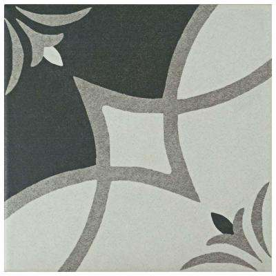 Twenties Crest 7-3/4 in. x 7-3/4 in. Ceramic Floor and Wall Tile