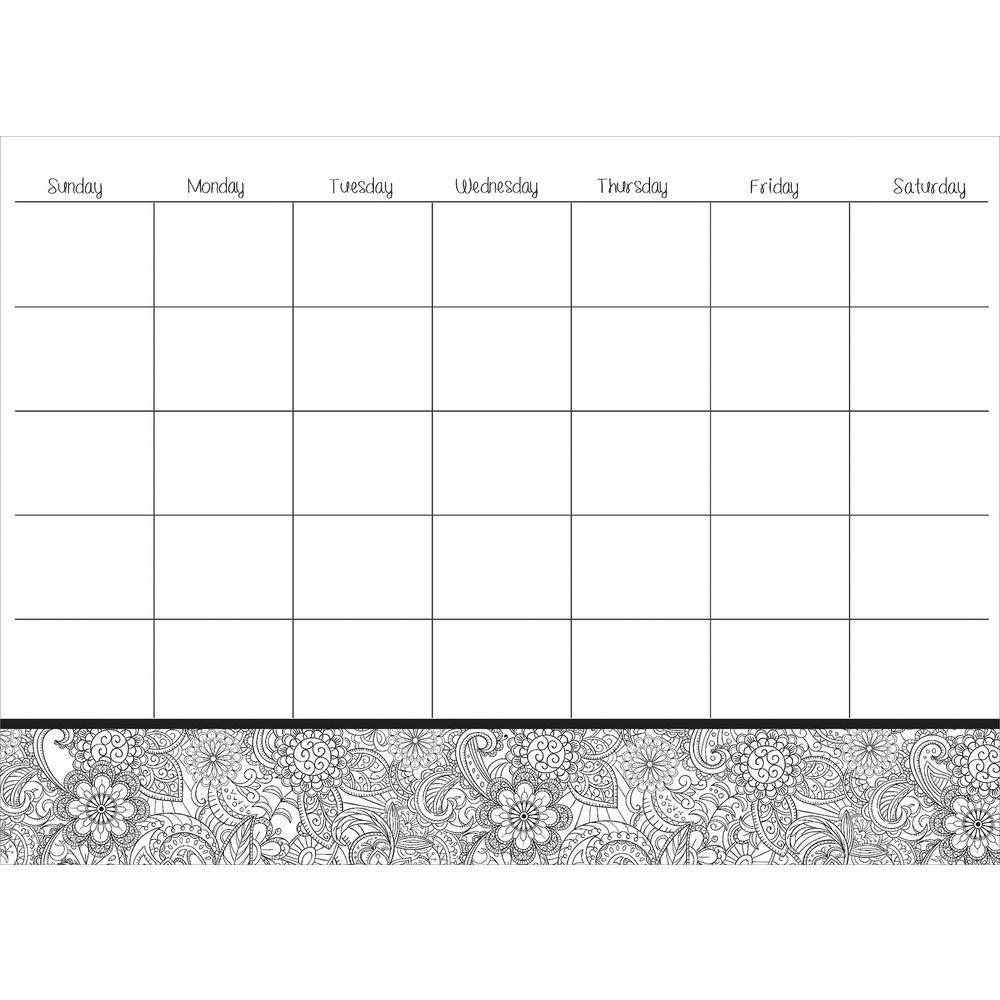 White Punjab Coloring Calendar Decal