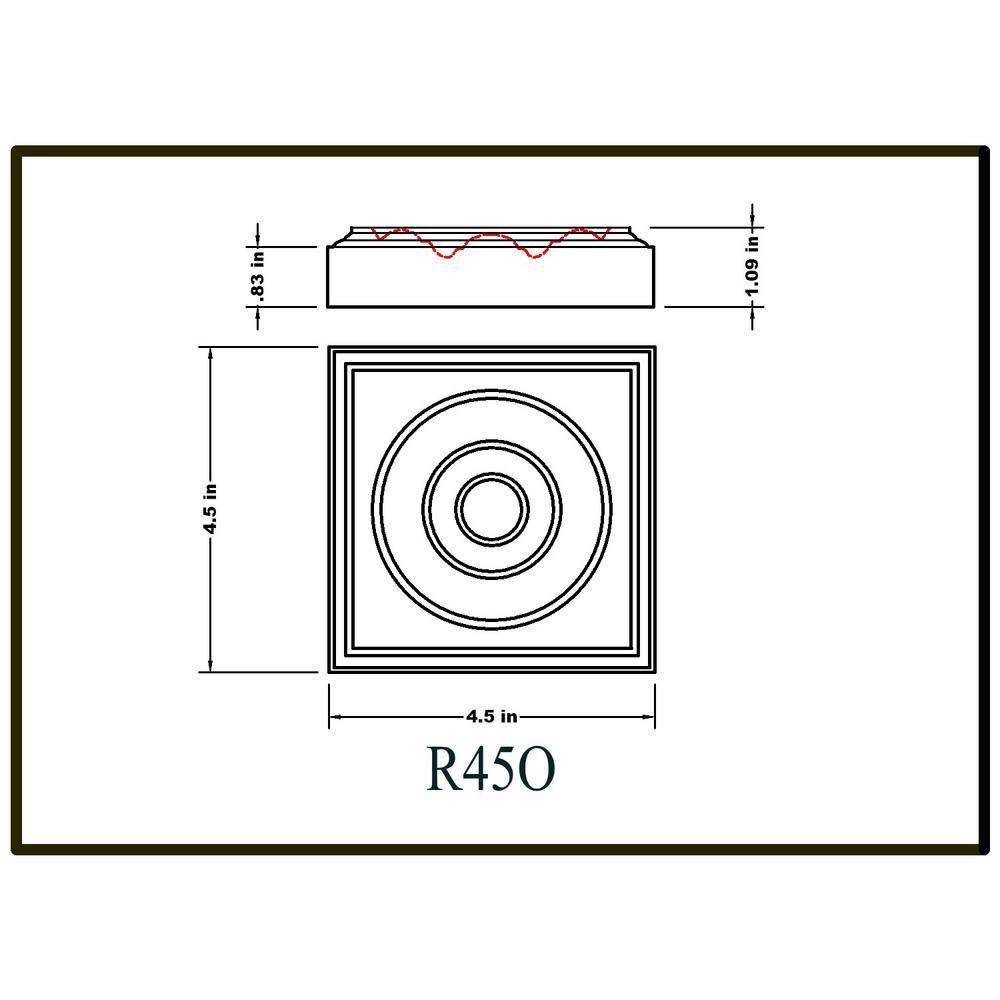 "2x ROS-DR04X02AGRW Deep Relief 4-1//4/"" Leaf Rosette Onlay"