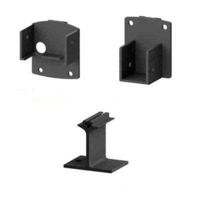 AquatinePLUS 2 in. x 3 in. x 5 in. Black Aluminum Pool Fence Picket Bracket Kit