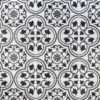 Sintra White Ornate Encaustic 9 in. x 9 in. x 10mm Mate Porcelain Floor and Wall Tile (20 pieces / 10.65 sq. ft. / box)