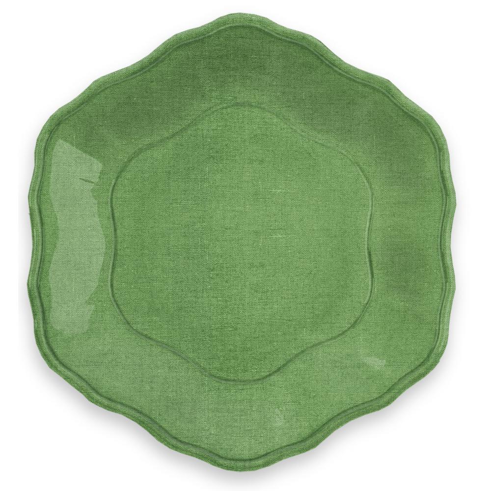 Savino Amazon Green Linen Salad Plate (Set of 6)