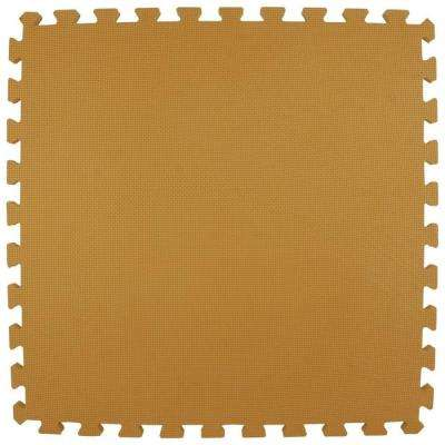 Premium Tan 24 in. x 24 in. x 5/8 in. Foam Interlocking Floor Mat (Case of 25)