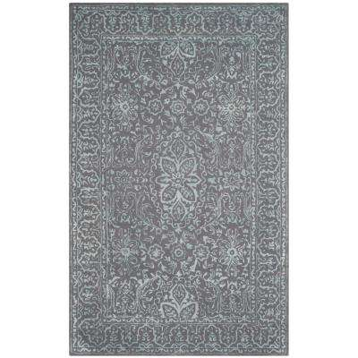 Glamour Opal/Gray 6 ft. x 9 ft. Area Rug