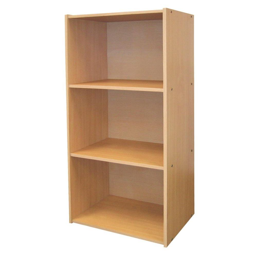 Home Decorators Collection Natural Open Bookcase Jw 190 The Home Depot