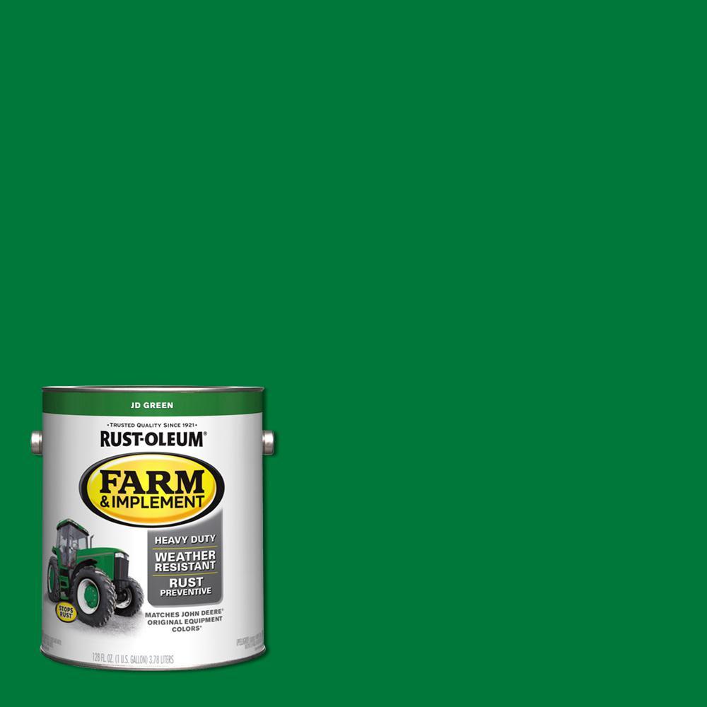 Rust Oleum 1 Gal Farm Implement J D Green Gloss Enamel Paint 2 Pack 280170 The Home Depot