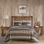 Woolrich Winter Plains 3-Piece Taupe King/Cal King Quilt Mini Set