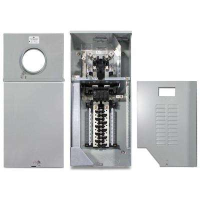 150 Amp 4 Space 8 Circuit Outdoor Combination Main Breaker/Ringless Meter Socket Load Center