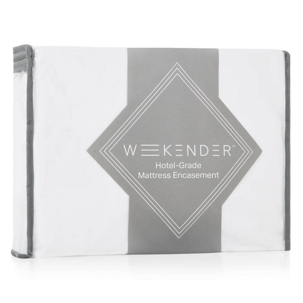 Weekender Hotel-Grade Polyester Full Encasement Jersey Mattress Protector in