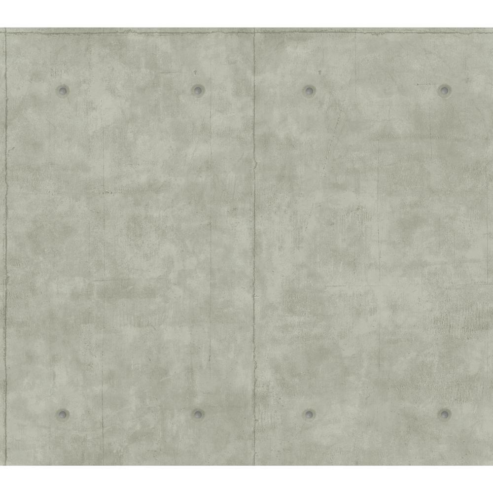 60.75 sq. ft. Magnolia Home Concrete Removable Wallpaper