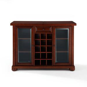 Alexandria Mahogany Bar with Sliding Top