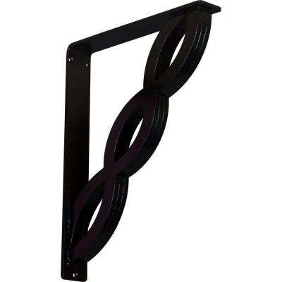 2 in. x 15 in. x 12 in. Wrought Iron Triple Center Brace Loera Bracket