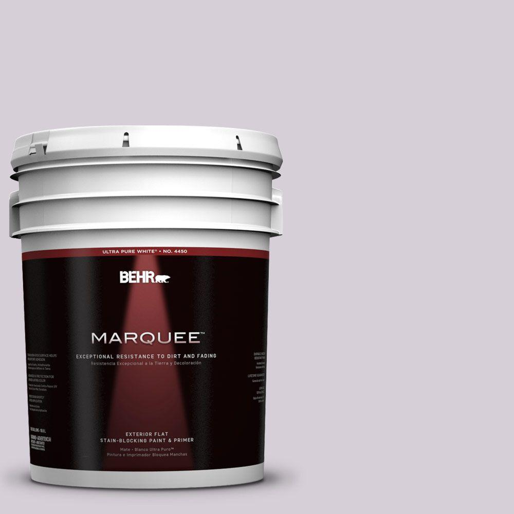 BEHR MARQUEE 5-gal. #670E-3 Lilac Mauve Flat Exterior Paint