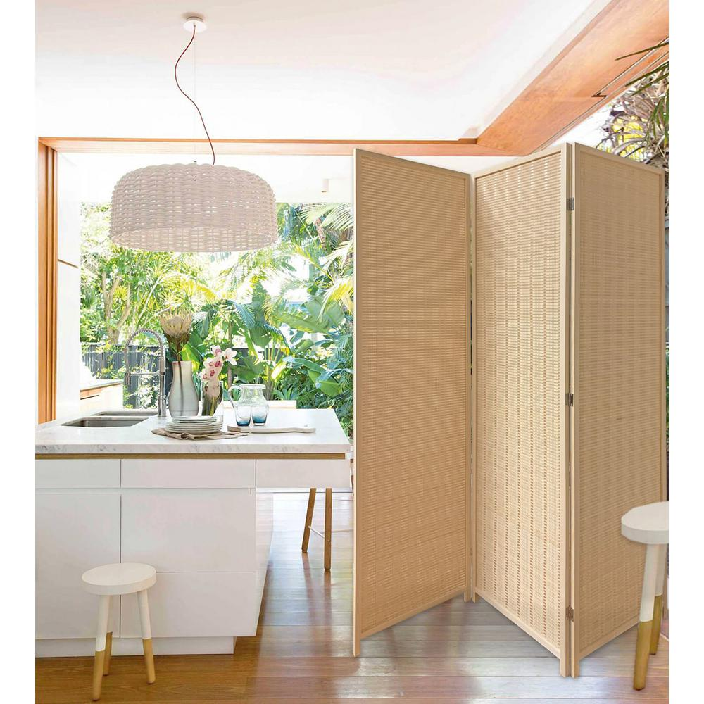 Unbranded Sg 359 Bamboo Kyoto Screen Sg 359 3 Panel Room Divider Sg 359 The Home Depot