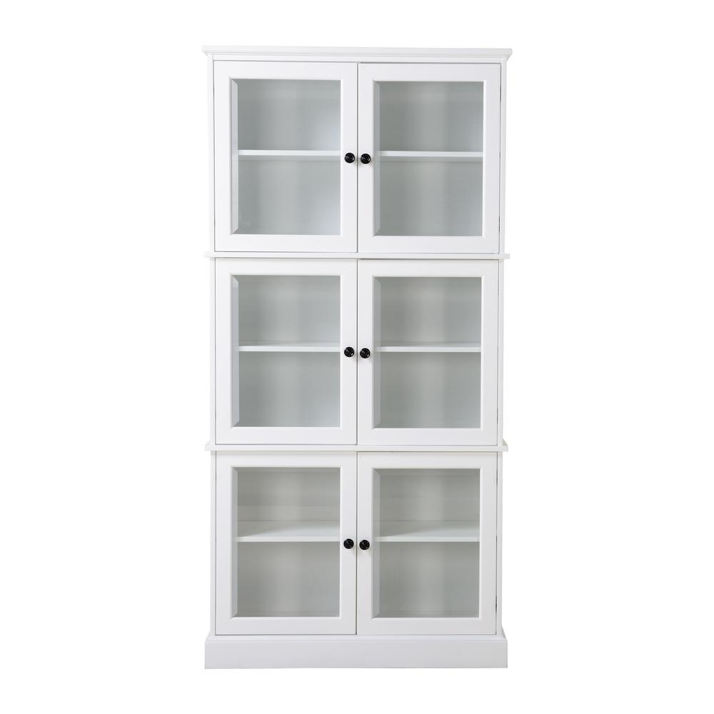 Ready To Emble 35 39x12 4x72 05 In Display Pantry Cabinet 6 Door White