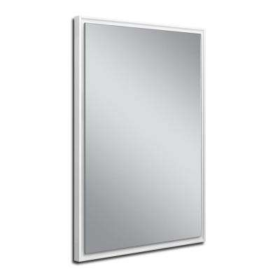 26 in. W x 38 in. H White Studio Float Wall Mirror