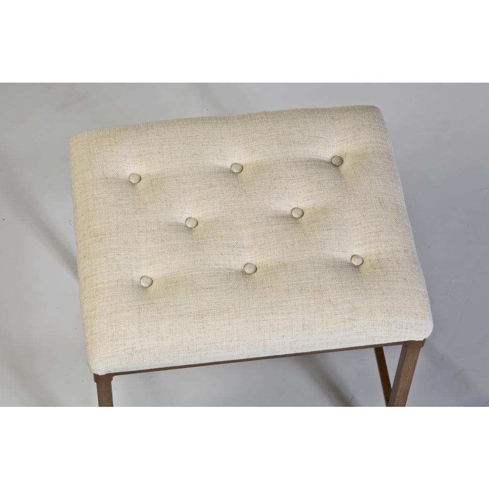 Prime Hillsdale Furniture Katherine 18 In Cream Fabric Backless Creativecarmelina Interior Chair Design Creativecarmelinacom