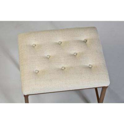 Katherine 18 in. Cream Fabric Backless Vanity Stool