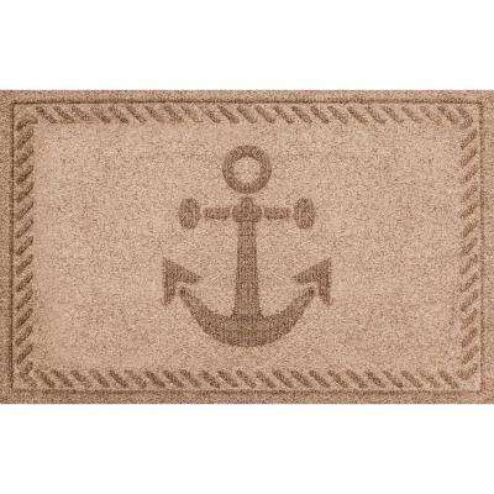 Medium Brown 24 in. x 36 in. Ships Anchor Polypropylene Door Mat