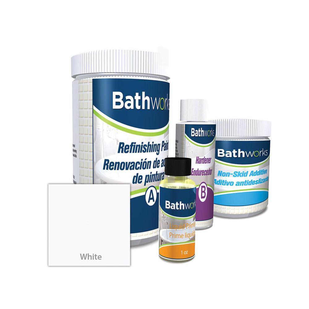 BATHWORKS 22 oz. DIY Bathtub Refinish Kit with SlipGuard in White