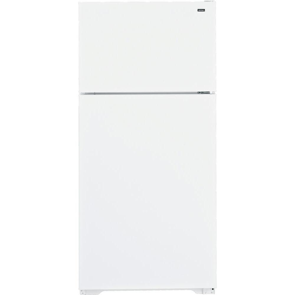 Hotpoint 28 in W 15.6 cu. ft. Top Freezer Refrigerator in White