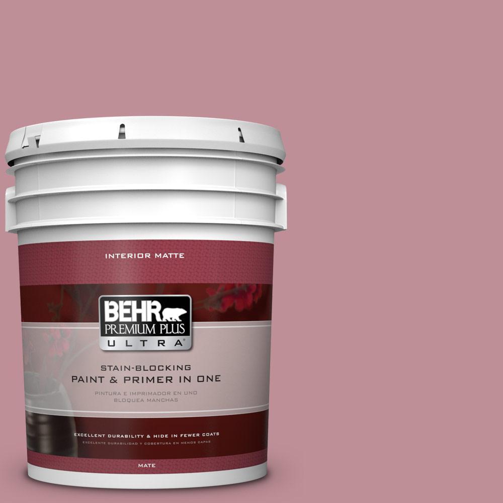 5 gal. #S130-4 Cherry Juice Matte Interior Paint